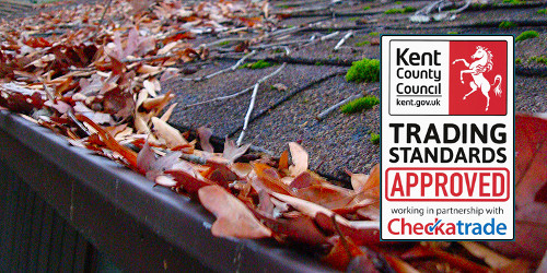 Gutter cleaning in Gillingham, Rochester, Chatham and Strood
